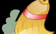sprzatajaca miotla