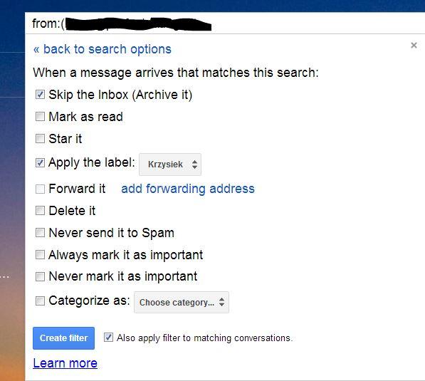 inbox filter gmail