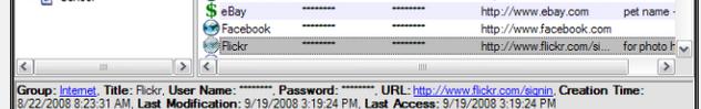 keepass dont show password