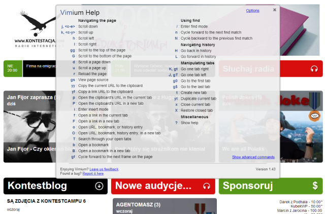 Vimium for chrome