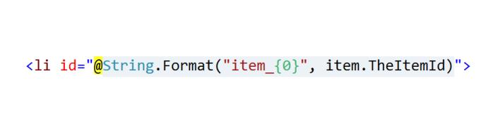 ASP.NET MVC Razor string.Format
