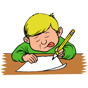 Boy Writing letter