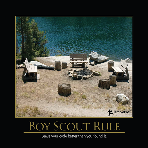 Boy scout rule in code