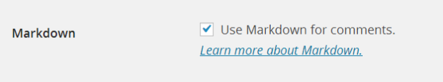 Markdown on wordpress