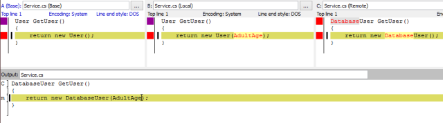 resolved in kdiff3